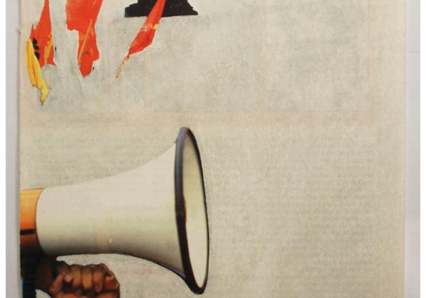 """""""Primaveras"""" / Pagina de revista intervenida con papel de lija"""