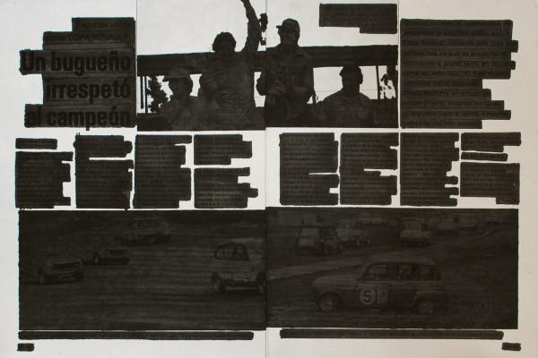 Primer Pablo/Tinta sobre papel/Intervención sobre reportaje periodístico de 1979/ 41×27 cm /2011