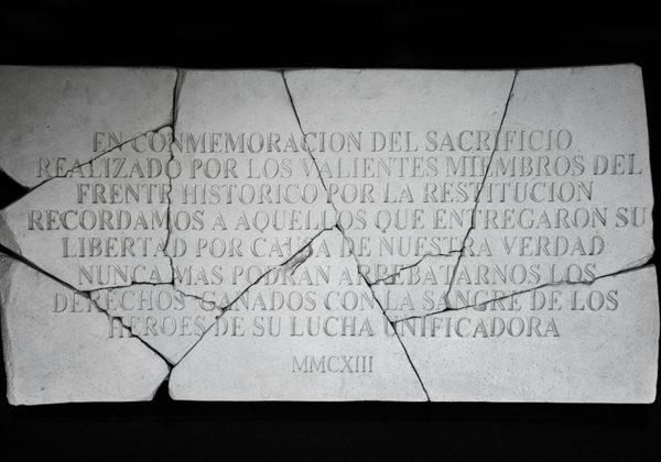 MMCXIII /Talla sobre estireno expandido / 80X40CM /2013 – Handmade carving on styrene/80 x 40CM/2013