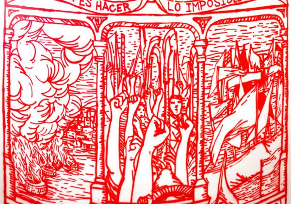 Biblia Pauperum . Bible of the Poor/Grafiti/ 400 X 600 cm/ 2012