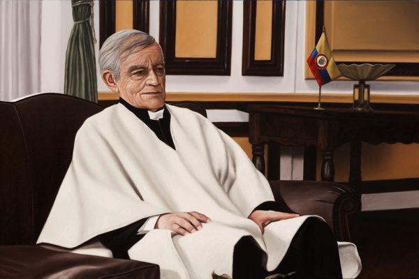 SET / El Minuto de Dios / 95 x 145 cm / Oleo sobre tela / 2017 Escena que registra al Padre García Herreros, negociador de la entrega de Pablo Escobar en 1991